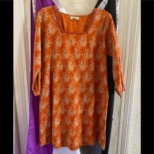 Mata Traders 60's Boho Mini Dress L